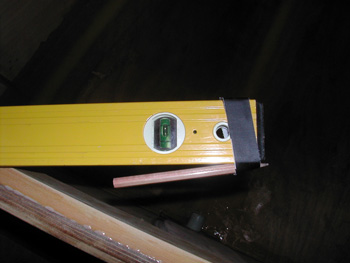 Spirit level equiped as a scribe