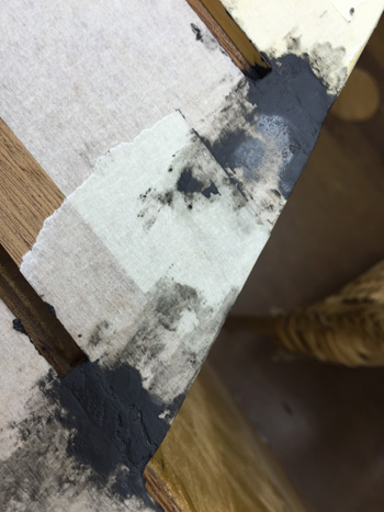 using epoxy putty to caulk the exposed ends