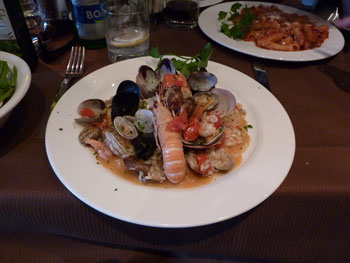 Seafood in Sorrento