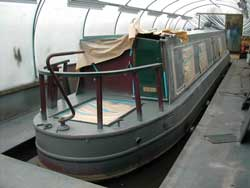 narrowboat in paint