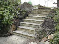steps at the summit